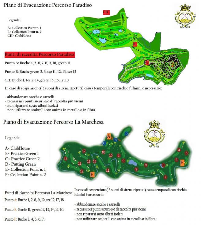 Golf Club Villa Carolina Piano Evacuazione